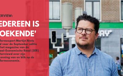 Huurder Martijn Arets deelt visie over platformeconomie met SER.