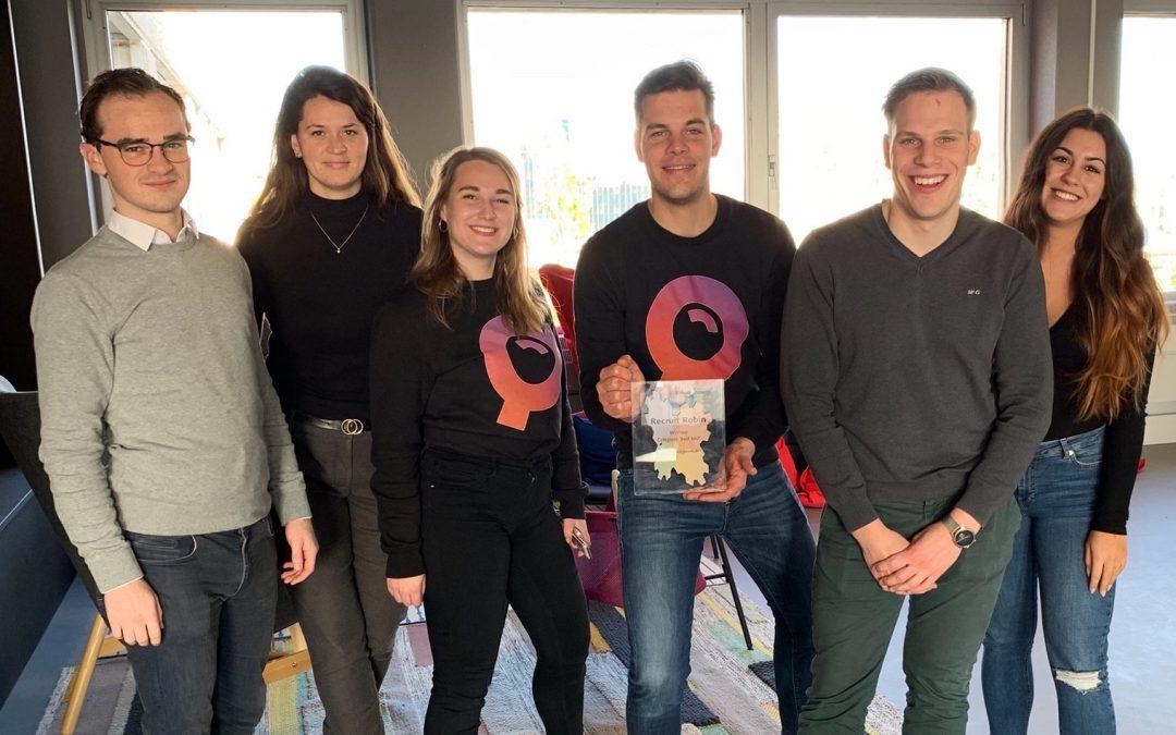 Recruit Robin wint de Recruitment Tech Awards 2019!