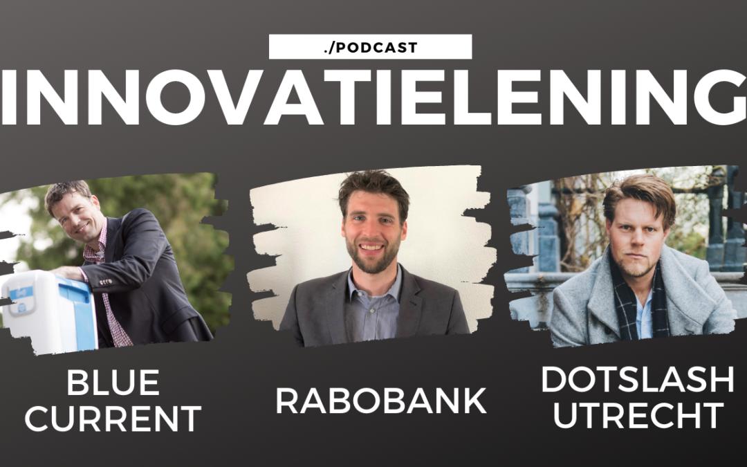 Arnoud Fontein van Blue Current Jelle Drijver van Dotslash en Bart Schreuders van de Rabobank