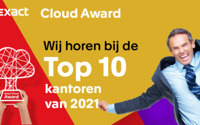 Stem op A-kantoor om Exact Cloud Award te winnen
